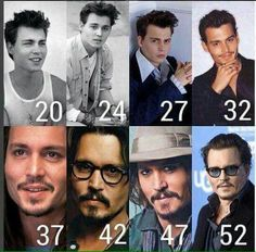 Johnny Depp throughout the years. He looks better now (he turned 53 today! He seems healthier and Happier (and looks hotter) Johnny Depp Characters, Johnny Depp Movies, Young Johnny Depp, Here's Johnny, Johnny Depp Age, Junger Johnny Depp, Johnny Depp Quotes, Johnny Depp Tattoos, Rock Argentino