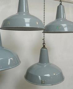 Enamelled industrial pendant Lights | eBay - similar to the lights I already have