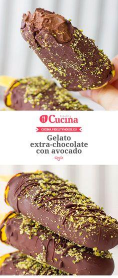 Gelato extra-chocolate con avocado