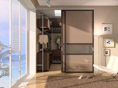 Гардеробная комната и система раздвижных дверей  С42 Деметра Вудмарк.
