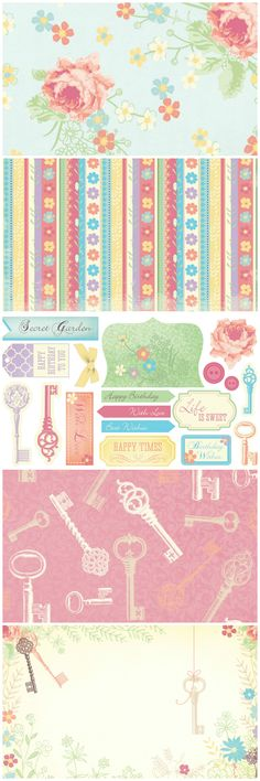 Be enchanted by our FREE Secret Garden digital papers and card toppers.