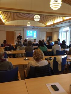 Lecturing on sustainable tourism development at Destination Halmstad today in front of a very enthusiastic crowd.