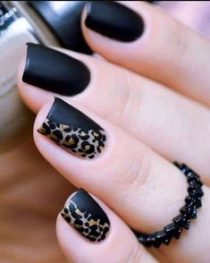 Get to know how to paint Leopard Nail Art designs! Leopard prints are a trend nowadays. From clothes to shoes to bags and even to nail art designs, they Nail Art Designs, Classy Nail Designs, Black Nail Designs, Nails Design, Cheetah Nail Designs, Matte Nails, Black Nails, Pink Nails, Matte Black