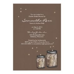 Discount DealsTwo Mason Jars & Fireflies Bridal Shower Announcementyou will get best price offer lowest prices or diccount coupone