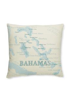 Tommy Bahama Island Map Print Pillow at MYHABIT