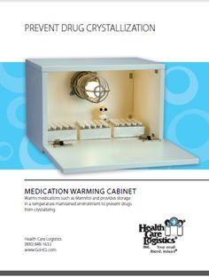 Medication Warming Cabinets by Health Care Logistics- Specifically designed to warm and store medications in a temperature maintained environment to help prevent drugs from crystallizing. Way #16 Winter 2011 / Improving Patient Care & Hospital Pharmacy Cost Containment. ----- (As seen in the WINTER 2011 20Ways publication www.rxinsider.com...)