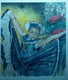 Art by Ramiro Ordonez Acrylic Painting   Title:  Fiesta