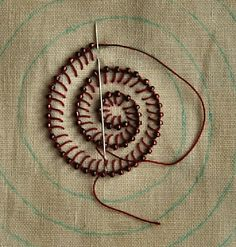 Buttonhole Stitch with a Bead