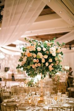 Featured Photographer: Michelle Beller; wedding reception centerpiece