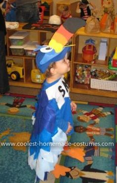 """Homemade Toucan Sam Costume: This is our 2 year old, Sam, in a Homemade Toucan Sam Costume. Every year (only 3 so far) he's been something with """"Sam"""" for Halloween. Sam I Am, SAMurai"""