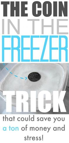 The coin in the freezer trick that helps you out when there's a power outage!