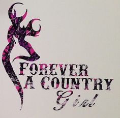 Muddy Girl Pink Camo Forever A Country Truck Vinyl Decal  Hunt Deer Browning
