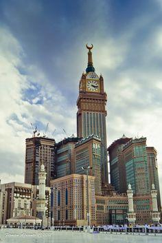 View of Makkah Clock Tower from al-Masjid al-Haram, Saudi Arabia.  THE LIBYAN Esther Kofod www.estherkofod.com
