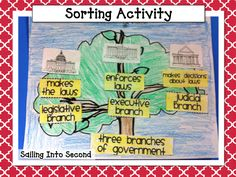 U.S. Government Lessons; sorting activities