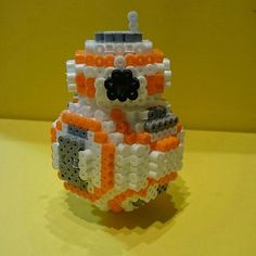 Star Wars The Force Awakens 3-D BB-8 perler beads by soyake.nahte