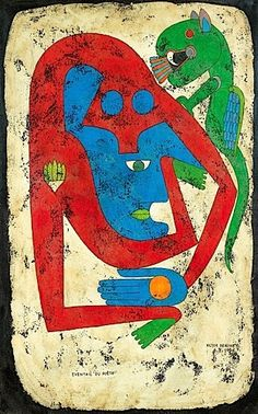 Totem of Blessed Subjectivity II - Victor Brauner - WikiArt.org