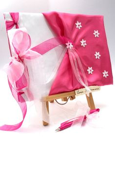 Wedding Guest Book - Pink, Romantic, Elegant Weddings or for your Baby