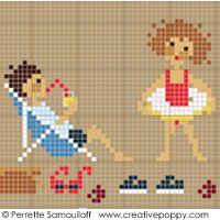 Perrette Samouiloff - Bord de mer, Collection Bonheur d'enfance (point de croix)
