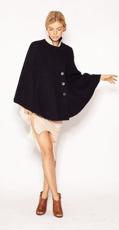imogene + willie - Florence denim cape | 348.00 - http://shop.imogeneandwillie.com/products/florence