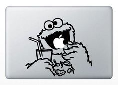Cookie Monster-decals macbook stickers macbook mac decal mac sticker apple decal mac skin vinyl mac decals for mac pro / Macbook Air on Etsy, 45,66 kr