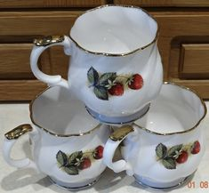 VINTAGE Queen's CHURCHILL Fine Bone China Cups Antique Fruit Collectible – British & Far East Traders Lifestyle & Shopping Blog Coffee Cups, Tea Cups, Beautiful Fruits, Lifestyle Shop, Churchill, Bone China, Body Painting, Bones, Gadgets