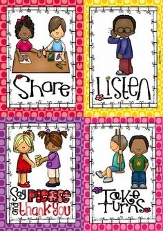 Mind your Manners Posters and 8 Cards) 50 for 24 Hours Preschool Classroom Rules, Manners Preschool, Manners Activities, Manners For Kids, Classroom Rules Poster, Teaching Manners, Classroom Behavior, Preschool Lessons, Preschool Activities