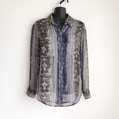 Details about the limited geo print shirt dress popover style w equipment femme signature silk shirt sheer snake print womens size xs 268 ebay gumiabroncs Choice Image