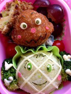 こっちもメッチャ上手✨ - 118件のもぐもぐ - Lunch box☆meronpanna&currypan man☆メロンパンナとカレーパンマン by Ami
