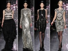 #NYFW #NaeemKhan Unbelievably beautiful, intricate beading.  So hard to choose just 1 pic from this show!