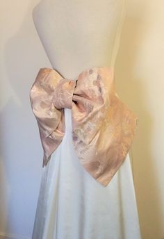 Vintage KIMONO Wedding sash OBI bow belt gold silk by Shantique