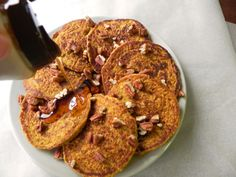 Pumpkin Pancakes. Gluten-free. Vegan. Refined sugar-free. Oil-free. Plan to add allergen-friendly mini chocolate chips
