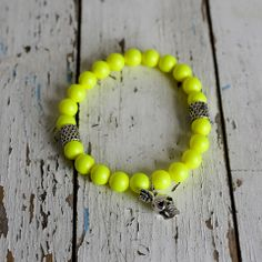Lindi Kingi Neon Yellow Swarovski Pearls | The Collectors Co