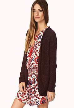 Textured Knit Cardigan   FOREVER21 - 2000090395