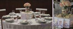 Esküvői dekoráció, barna esküvői dekoráció, asztaldísz