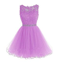 Sexy Prom Dress,Tulle Prom Dress,Short Homecoming Dress,Prom Gown by… Dama Dresses, Cute Prom Dresses, Dresses For Teens, Pretty Dresses, Homecoming Dresses, Pink Dresses, Prom Gowns, Light Purple Dresses, Bridesmaid Dresses