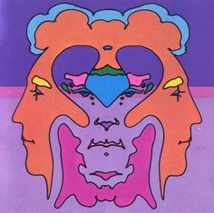 Peter Max - Thought - 1970 Retro Kunst, Retro Art, Art Pop, Psychedelic Art, Peter Max Art, Art Nouveau, Painting The Roses Red, Happy Hippie, Hippie Art