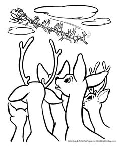 Rudolph The Red Nose Reindeer Coloring Page