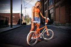 1987 Dyno Pro Compe Team Model Photo. Orange Old School BMX Bike
