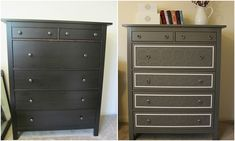 I am completely and totally in love with this Hemnes Ikea hack!