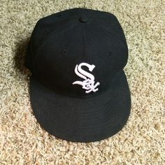 Vintage Chicago Whitesox Fitted 7 1/4 New Era Hat Vintage Chicago Whitesox Black 7 1/4 New Era Fitted baseball hat. Only wore this hat once. New Era Accessories Hats   .....................Please save this pin.   .............................. Because for vintage collectibles - Click on the following link!.. http://www.ebay.com/usr/prestige_online