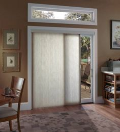 Sliding glass door window treatment