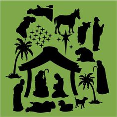 Vinyl Wall Decal Nativity Set by vinylartstudio, $9.00