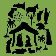 silhouette nativity
