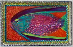 """New to SissysFolkArt on Etsy: Spotted Pensive Fish 16"""" x 11"""" (325.00 USD)"""