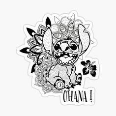 'Ohana Mandala' by KalikaGraphisme Disney Stitch Tattoo, Disney Tattoos, Disney Stich, Stitch Coloring Pages, Disney Coloring Pages, Mandala Coloring Pages, Coloring Books, Colouring Pages, Adult Coloring