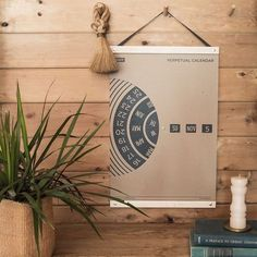 A functional art piece for the home or office, this large-scale wall calendar may be used year after year. Participate in the ritual of time-keeping with each p Wall Calendar Design, Diy Calendar, Desk Calendars, Furniture Ads, Cool Furniture, Furniture Design, Plywood Furniture, Furniture Stores, Asian Furniture