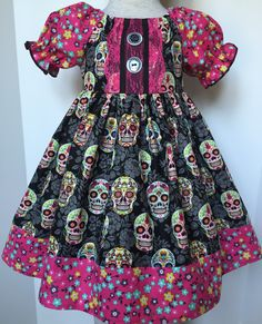 Day of the dead dress  By levonadanielle on etsy
