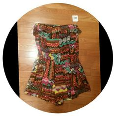 BRAND NEW Aztec Print Shorts Romper Cute little romper in large....see pics for details...JUNIOR SIZING L8ster  Shorts