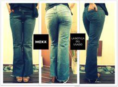 > ¿Buscas calidad, durabilidad y calce perfecto?  ¡#MEXX #Jeans! $180 Talle 4 Semi Oxford Deflecados Ancho de cintura: 39 cm Largo de piernas: 81 cm  Cintura ancha abotonada Bragueta con cierre Muy poco uso! http://www.mexx.com/