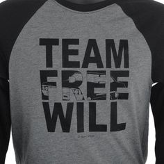 Dear Winchester Supernatural Jersey: Team Free Will by DareWearbyNaniWear on Etsy https://www.etsy.com/listing/204013112/dear-winchester-supernatural-jersey-team